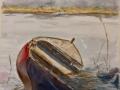 Båt i vinterdvala